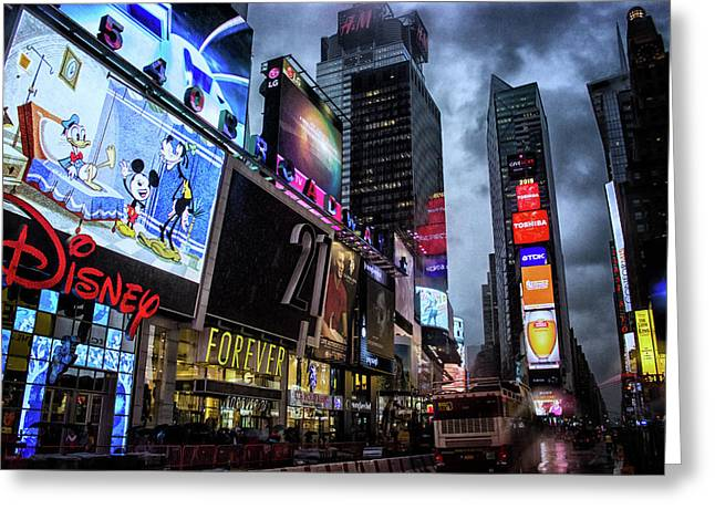 Times Square Greeting Card by Martin Newman