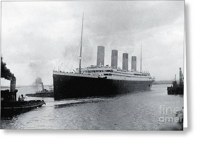 Titanic Leaving Southampton Greeting Card by The Titanic Project