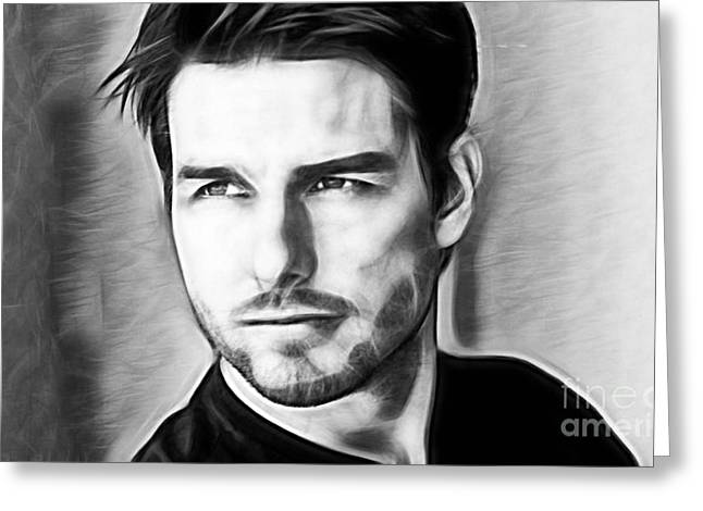 Tom Cruise Collection Greeting Card by Marvin Blaine