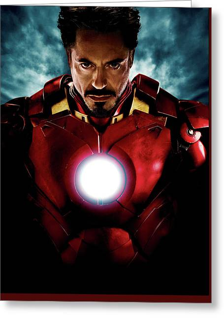 Tony Stark Iron Man Greeting Card by Unknown