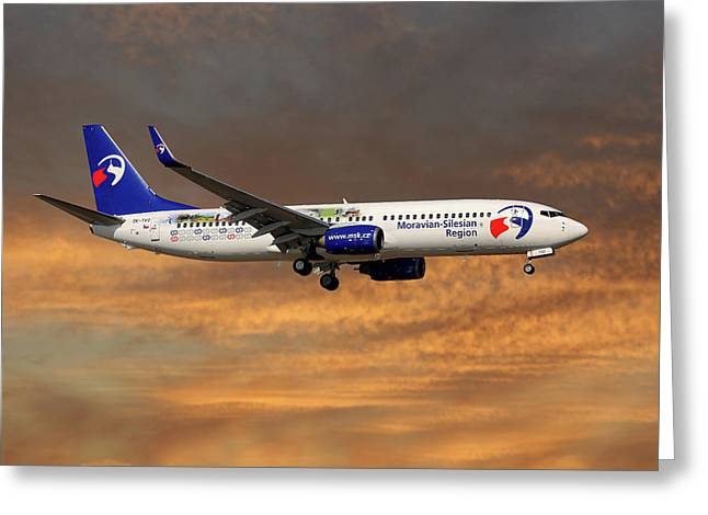 Travel Service Boeing 737-8cx Greeting Card