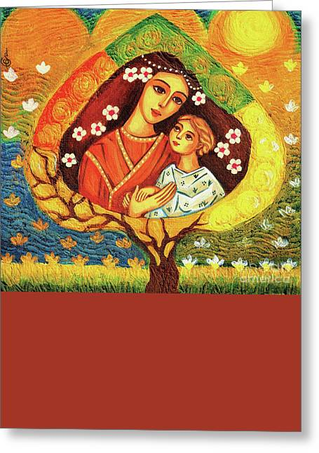 Greeting Card featuring the painting Tree Of Life by Eva Campbell