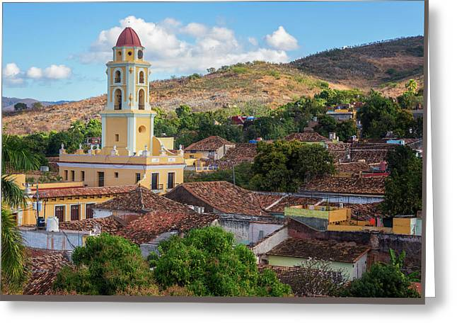 Greeting Card featuring the photograph Trinidad Cuba Cityscape II by Joan Carroll