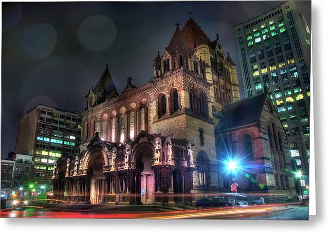 Greeting Card featuring the photograph Trinity Church - Copley Square Boston by Joann Vitali