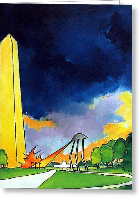 Tripod In D.c. Greeting Card by James Smith