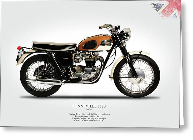 Triumph Bonneville 1964 Greeting Card