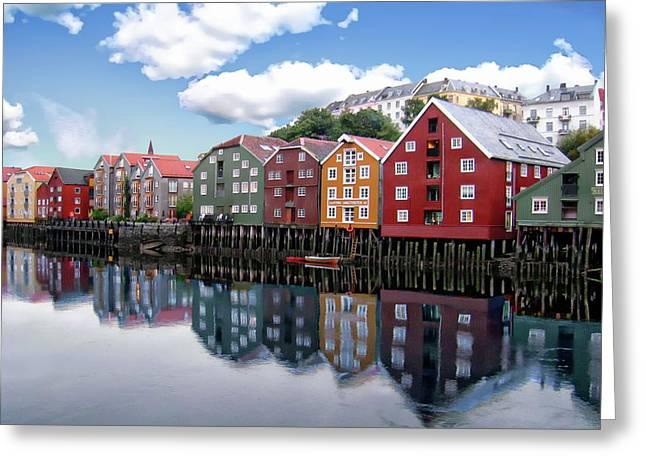 Trondheim Coastal View Greeting Card