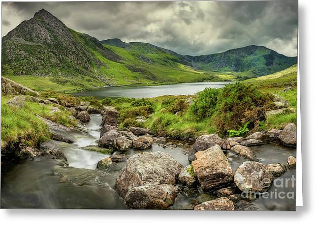 Tryfan In The Ogwen Valley Greeting Card