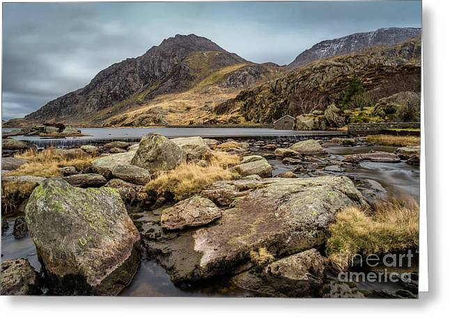 Tryfan Mountain Greeting Card by Adrian Evans