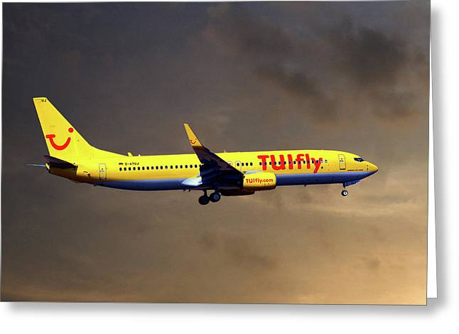 Tui Fly Boeing 737-8k5 Greeting Card