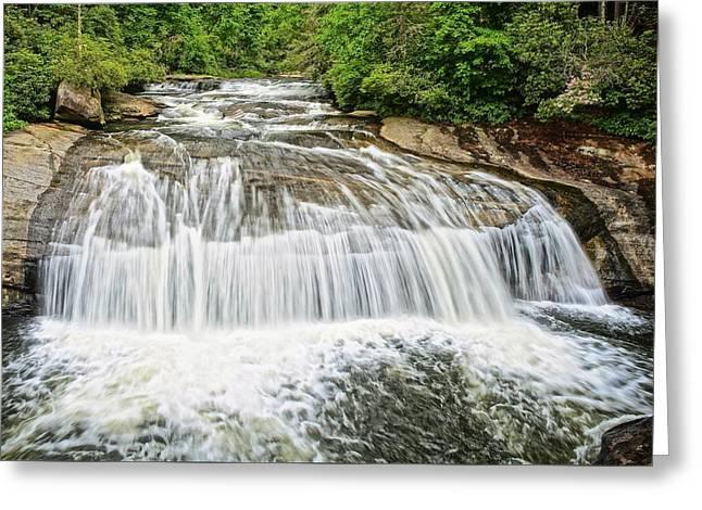 Turtleback Falls In Gorges State Park - North Carolina Waterfalls Series Greeting Card by Matt Plyler