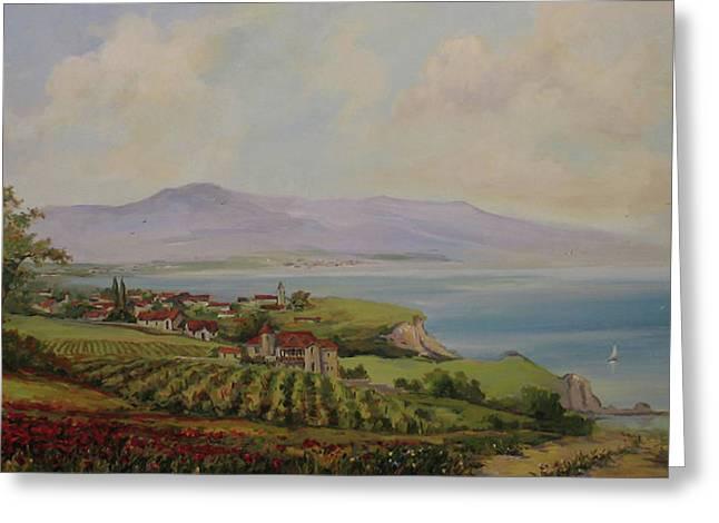 Tuscan Landscape Greeting Card by Tigran Ghulyan