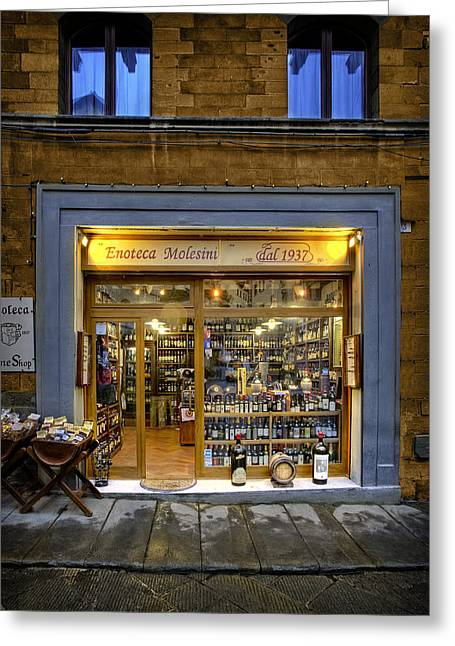Tuscany Wine Shop Greeting Card