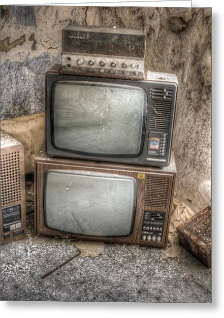 2 Tv's And A Radio Greeting Card by Nathan Wright