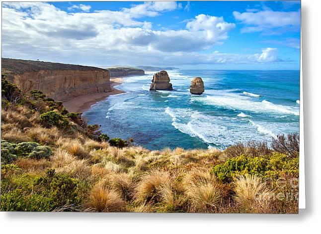 Twelve Apostles Great Ocean Road Greeting Card by Bill  Robinson