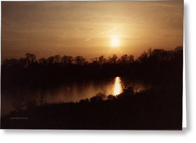 Twilight Greeting Card by Gerlinde Keating - Galleria GK Keating Associates Inc