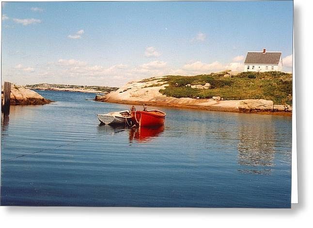 Two Boats Greeting Card by Andrea Simon