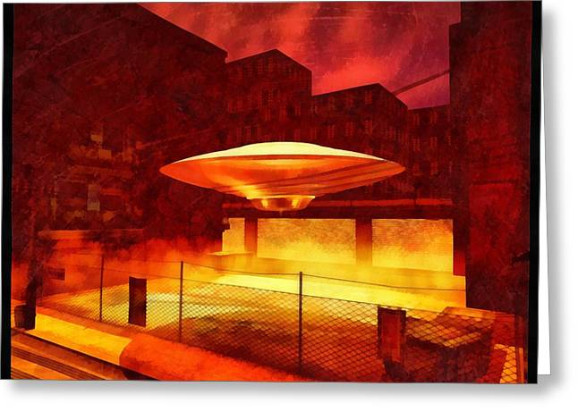 Ufo By Raphael Terra Greeting Card by Raphael Terra