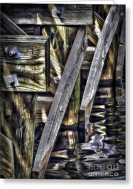 Under The Boardwalk Greeting Card by Walt Foegelle