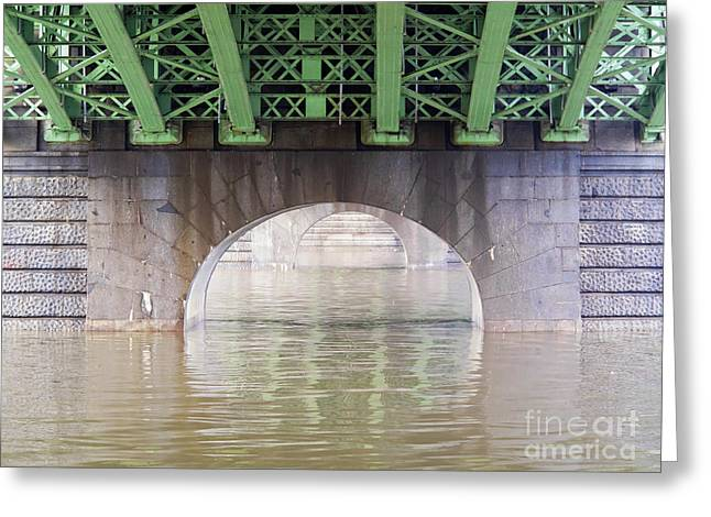 Under The Bridge Greeting Card by Michal Boubin