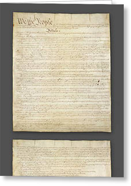 United States Constitution, Usa Greeting Card