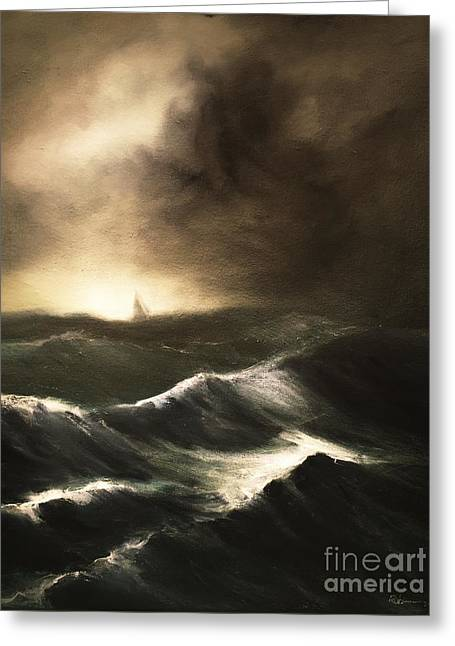 Greeting Card featuring the painting Untitled by Stephen Roberson