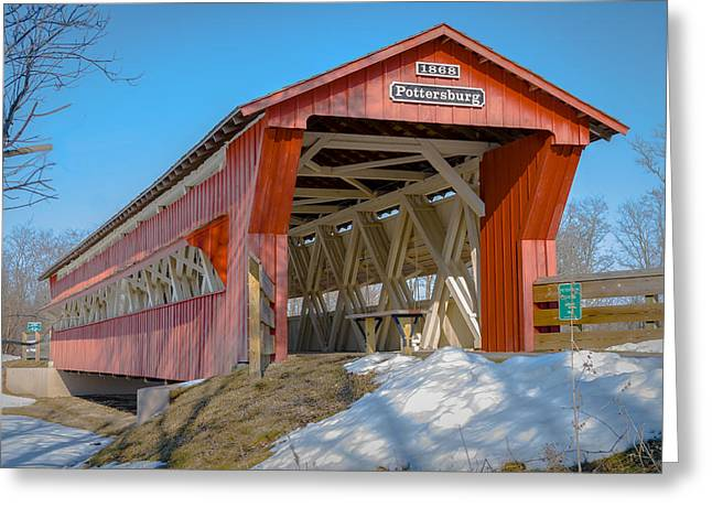 Upper Darby/pottersburg  Covered Bridge Greeting Card