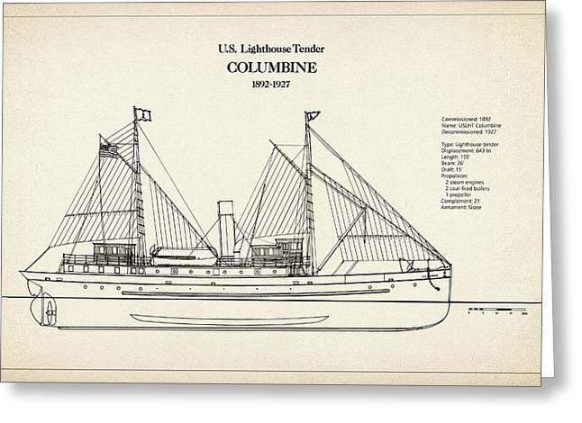 U.s. Coast Guard Tender Columbine Greeting Card
