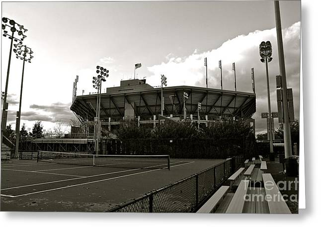 Usta National Tennis Center Greeting Card by Kayme Clark