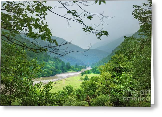 Valley Greeting Card by Svetlana Sewell