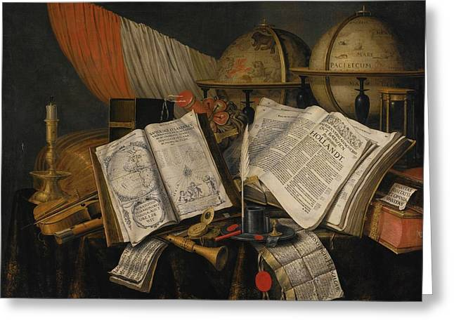 Vanitas Still Life With A Candlestick Greeting Card