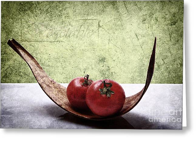 Tomato Greeting Card by Angela Doelling AD DESIGN Photo and PhotoArt
