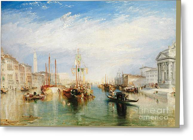 Venice, From The Porch Of Madonna Della Salute Greeting Card by Joseph Mallord William Turner