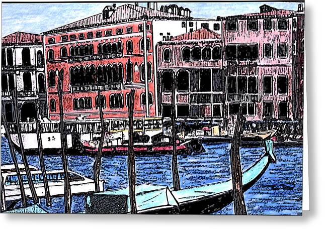 Venice Italy Greeting Card by Monica Engeler