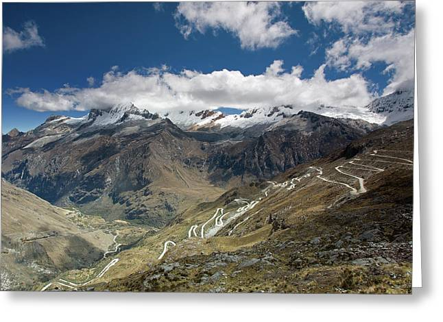 View From Portachuelo Pass Greeting Card