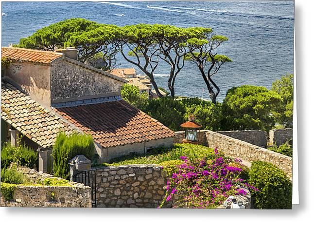 View From The Fortress Of Saint Tropez French Riviera Greeting Card by Sandra Rugina