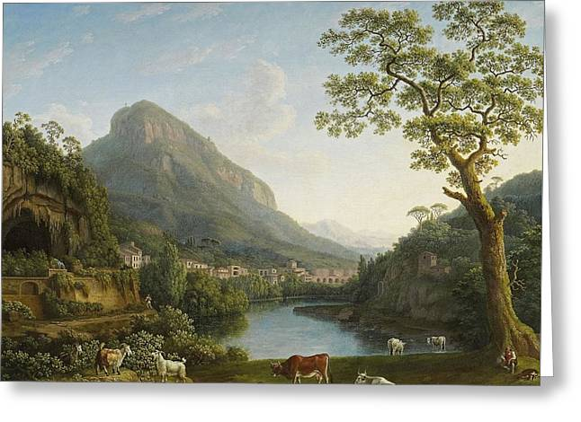 View Of Mulina In The Vally Of La Cava Greeting Card by Jacob Philipp