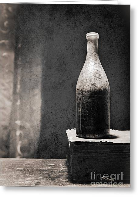 Greeting Card featuring the photograph Vintage Beer Bottle by Andrey  Godyaykin