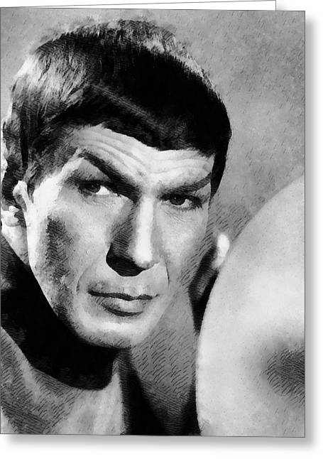 Vintage Trek Greeting Card by John Springfield