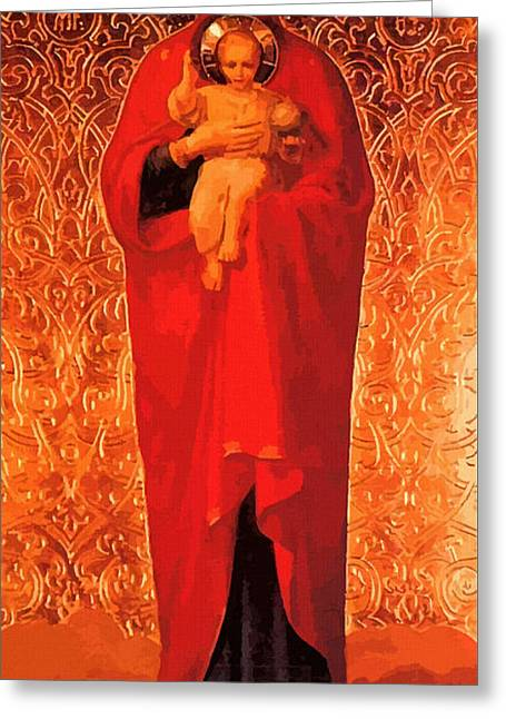 Virgin And Child Painting Greeting Card