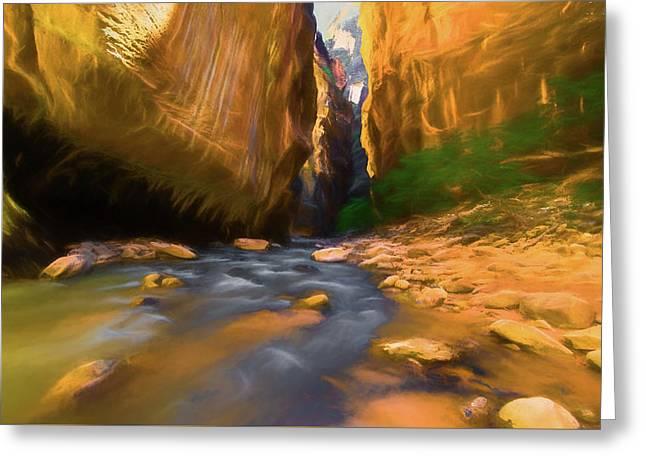 Virgin River - Zion National Park Watercolor Greeting Card