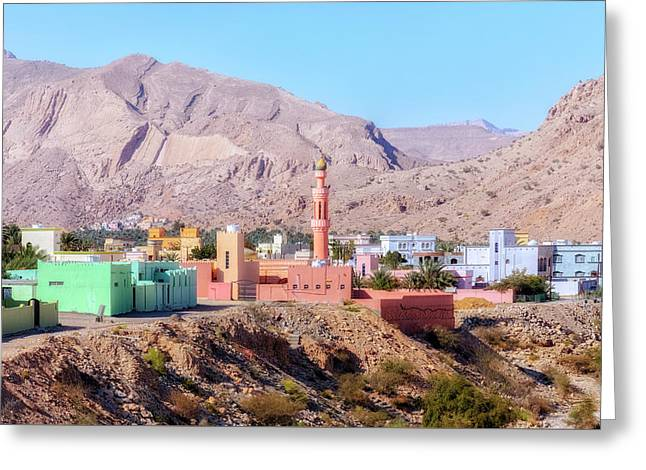 Wadi Bani Khalid - Oman Greeting Card by Joana Kruse