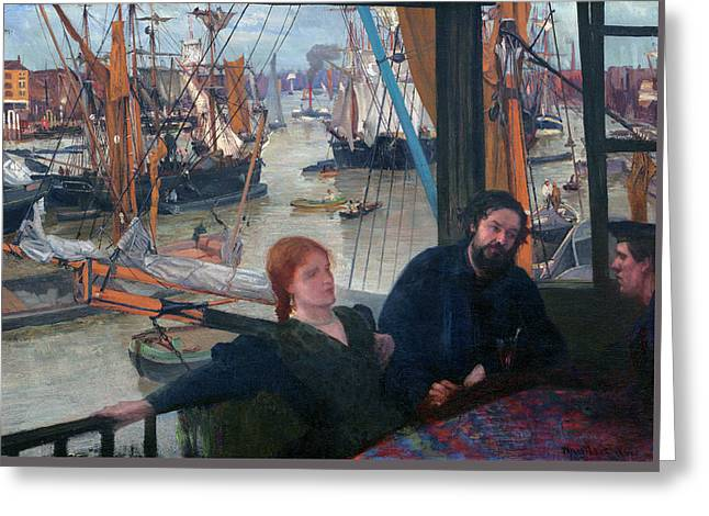 Wapping Greeting Card by James McNeill Whistler