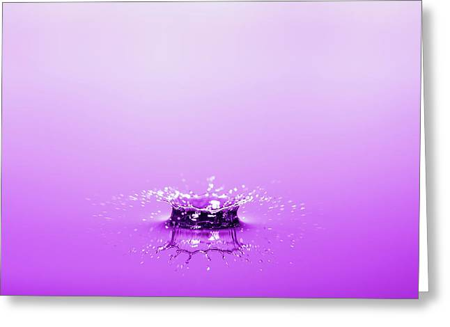 Water Drop Crown Greeting Card