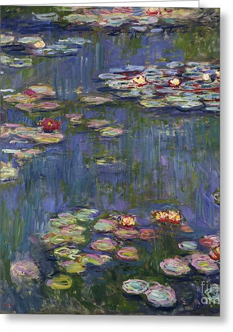 Water Lilies, 1916 Greeting Card