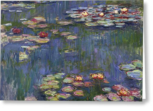 Water Lilies, 1916 Greeting Card by Claude Monet