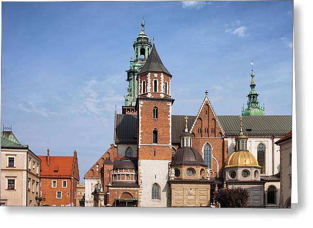 Wawel Cathedral In Krakow Greeting Card by Artur Bogacki