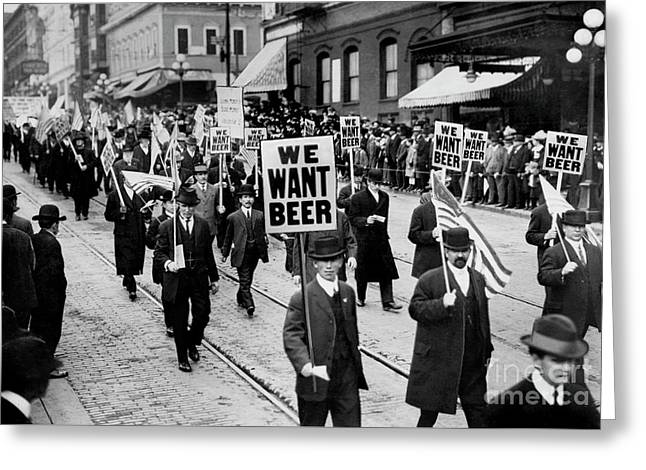 We Want Beer Greeting Card