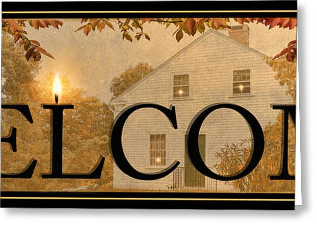 Welcome Greeting Card by Robin-Lee Vieira