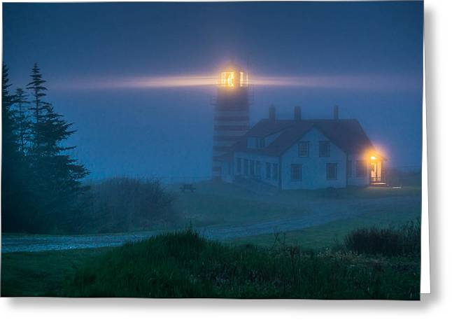 West Quoddy Lighthouse  Greeting Card by Trace Kittrell